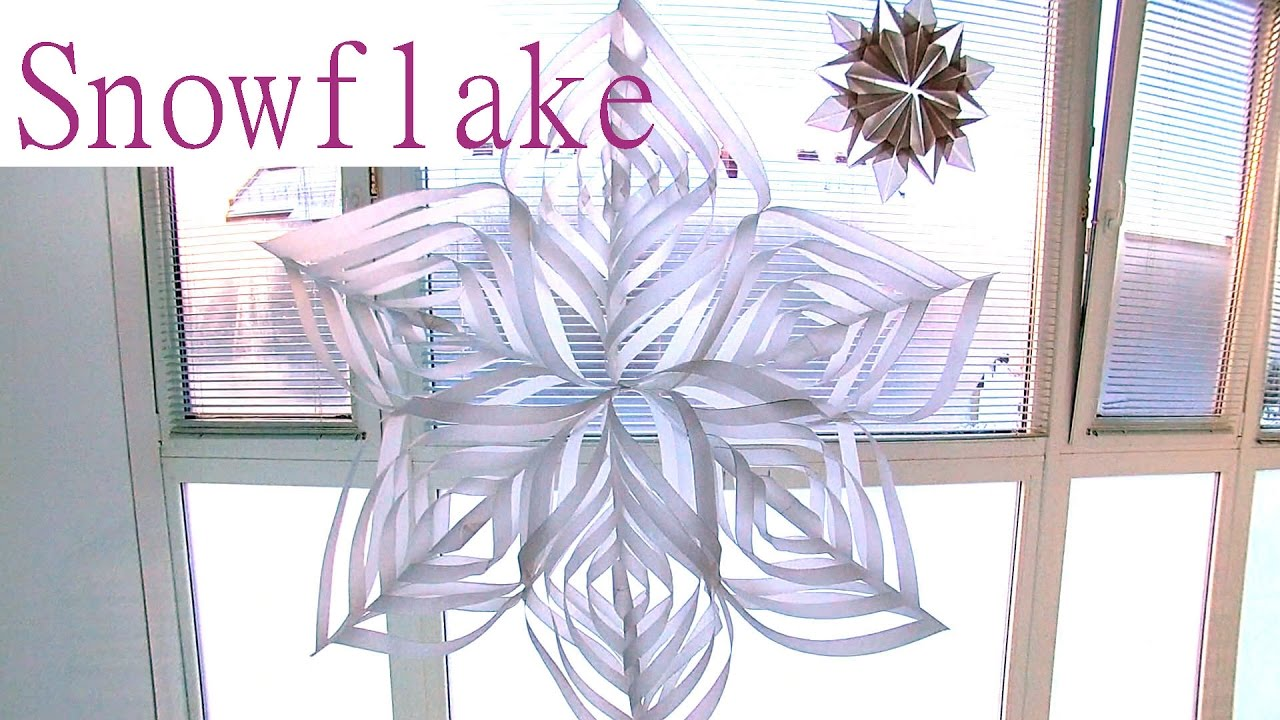 how to make christmas things out of paper snowflakes