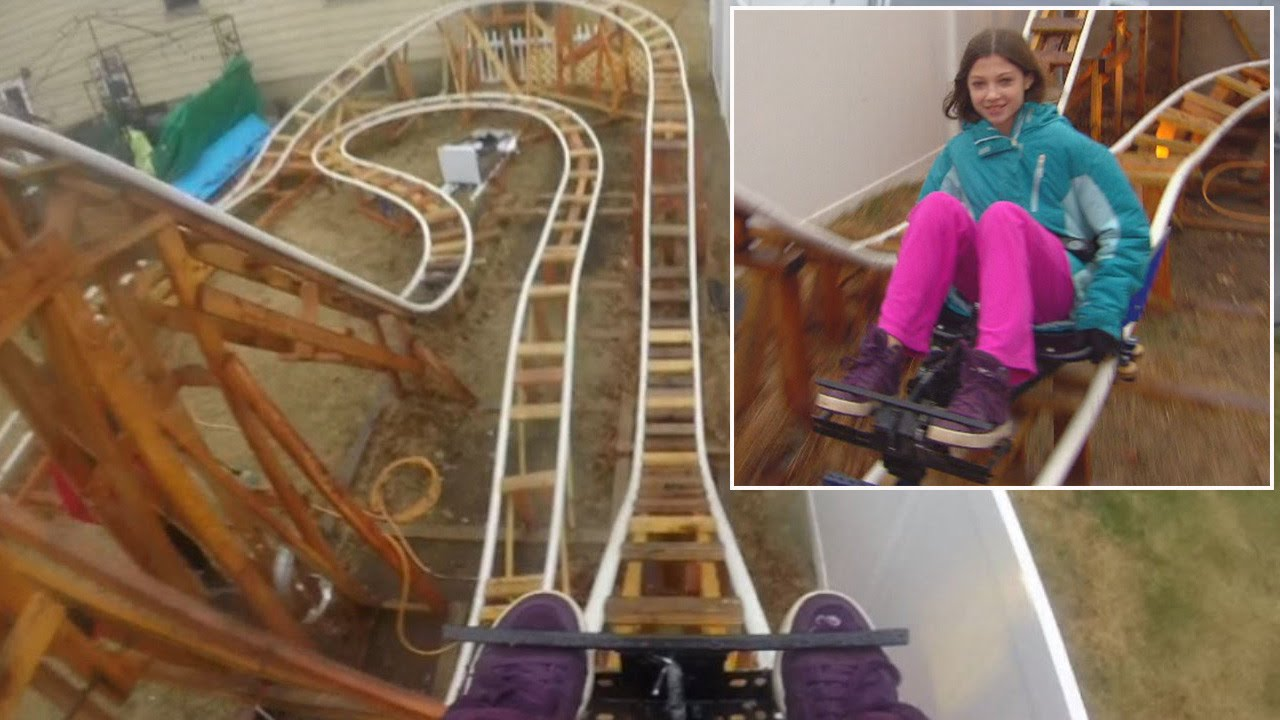 see roller coasters set up in people s private backyards youtube