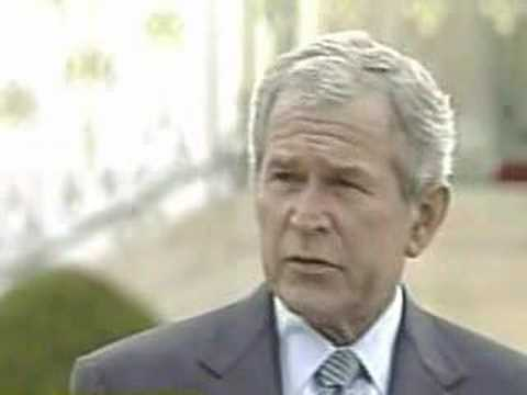 I'M A WAR PRESIDENT says BUSH