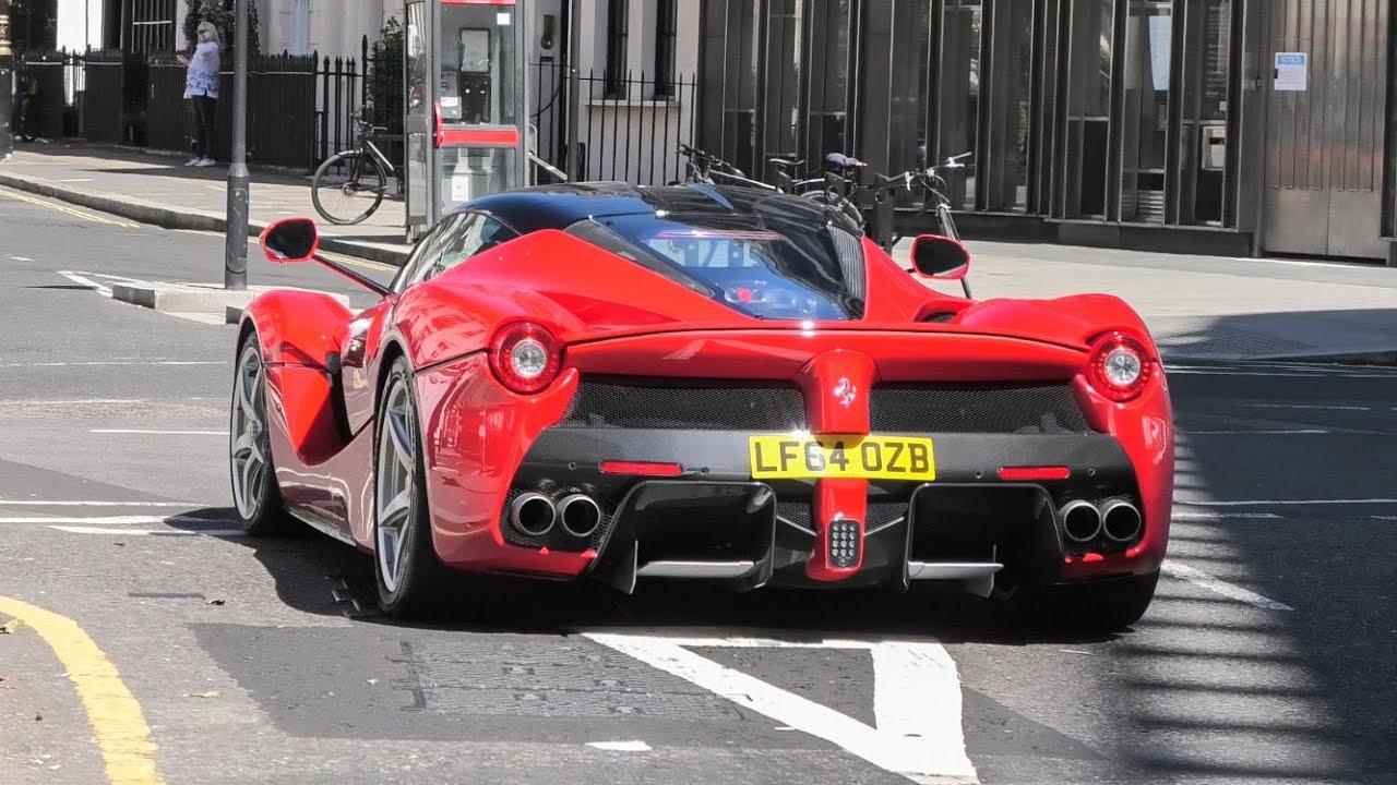 SuperCars in London July 2020 - La Ferrari, Senna, Pista Spider!