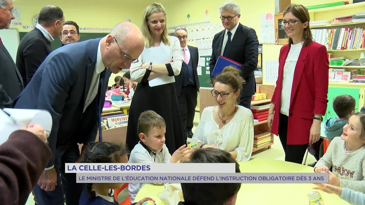 Yvelines | Jean-Michel Blanquer défend l'instruction obligatoire dès 3 ans à La Celle-les-Bordes