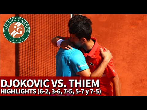 Roland Garros | Djokovic vs. Thiem Highlights (2-6, 6-3, 5-7, 7-5, 5-7) | Diario AS