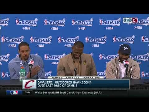Channing Frye gets LeBron and Kyrie cheezin