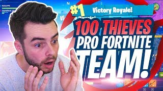 REACTING TO THE 100 THIEVES PRO FORTNITE TEAM!