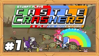 Castle Crashers - #1 - Pretty Pink Knight (4 Player Gameplay)