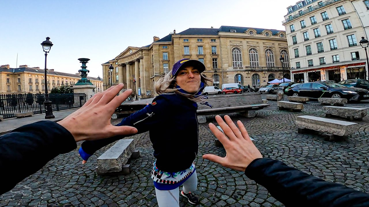Download ESCAPING ANGRY GIRLFRIEND 😡 (Epic Parkour Chase in Paris)