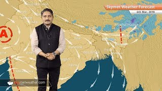 6 मार्च के लिए मौसम पूर्वानुमान: बिहार और झारखंड में बारिश के आसार, उत्तर व मध्य भारत में बढ़ेगा पारा