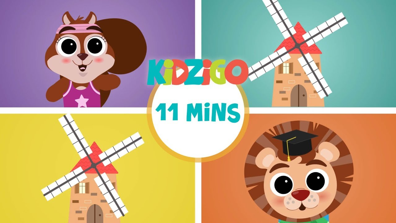 Kidzigo English | The Mill on the Hill (Full Episode) | Song, dance and fun learning for kids