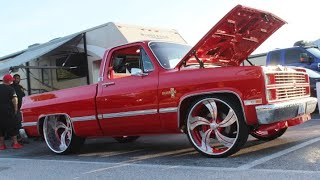 Veltboy314 - '84 C-10 Shortbed On Staggered 26x9 / 28x12 Intro Wheels - Street Beast 2 Car Show