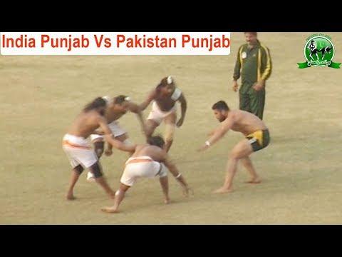 India Punjab Vs Pakistan Punjab Kabaddi Match Faislabad