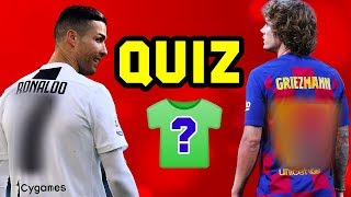 Can you guess tнe footballer's shirt number? ⚽️ FOOTBALL QUIZ 2019/20