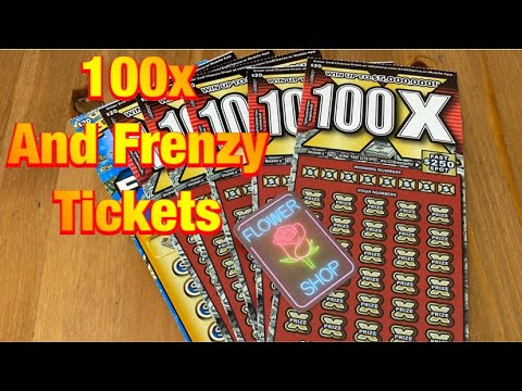 100X and 100 or 200 Frenzy Tickets‼️ California Lottery Scratchers🤞🍀🍀🍀