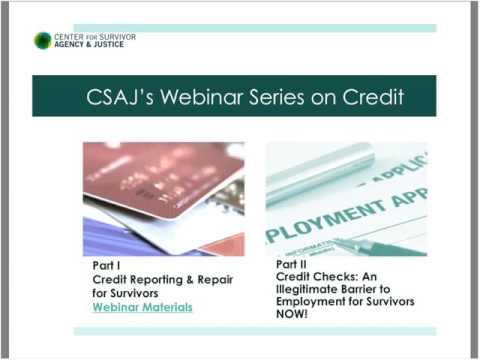Credit Checks: An Illegitimate Barrier to Employment