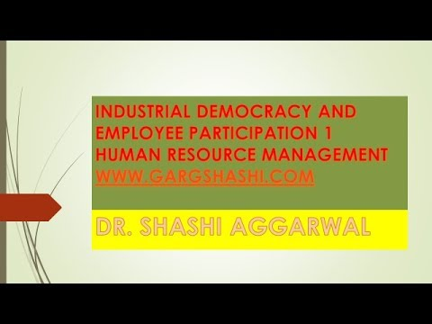 INDUSTRIAL DEMOCRACY AND EMPLOYEES' PARTICIPATION IN MANAGEMENT