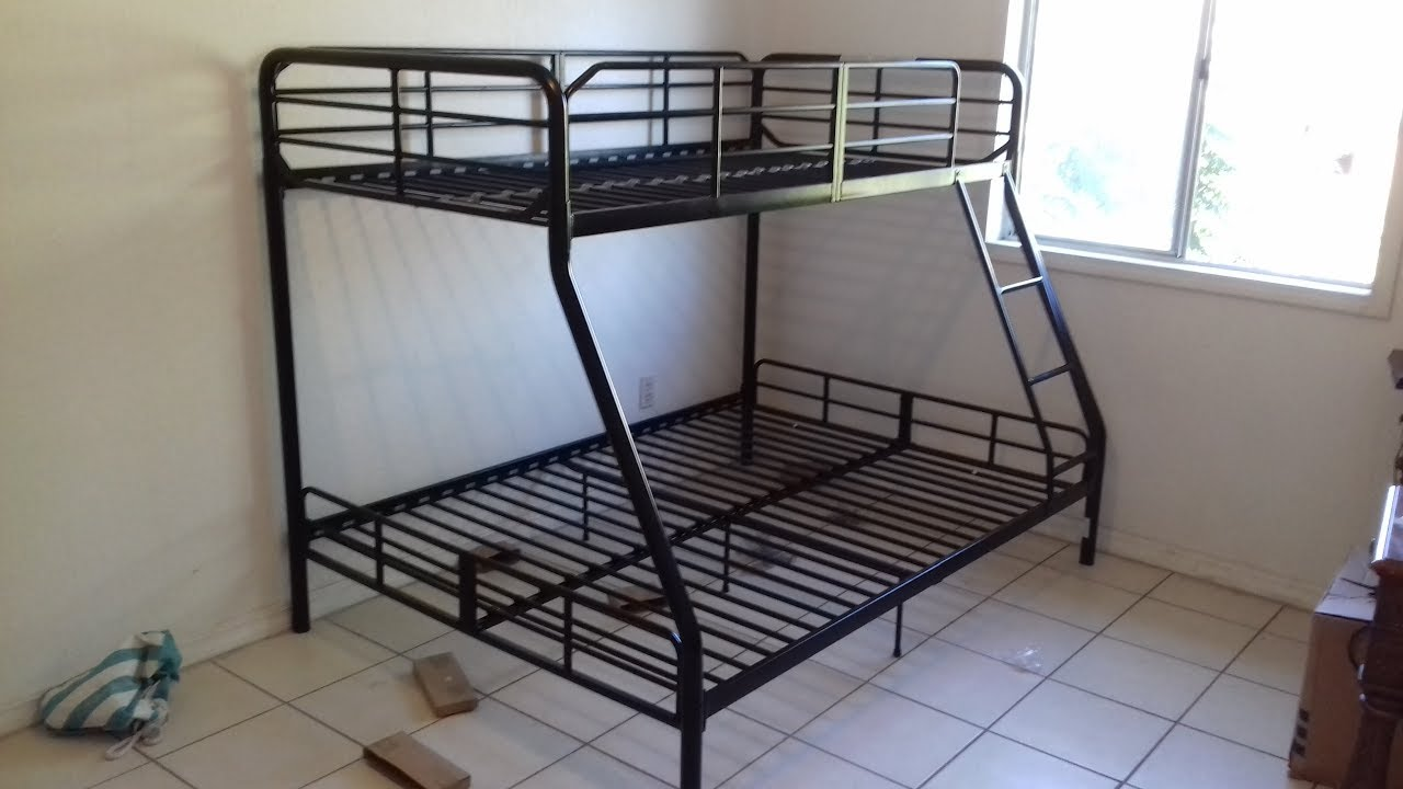 twin over full bunk bed assembly full instructions - YouTube
