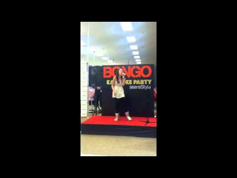 Audrey Jones performing Fearless by Taylor Swif at Sears Karaoke Party, Hosted by Lucy Hale!