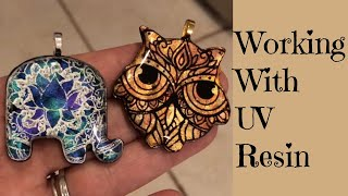 Working With UV Resin on Polymer Clay Tutorial
