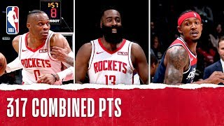 Rockets, Wizards Put On 3rd Highest Scoring Game in NBA History!