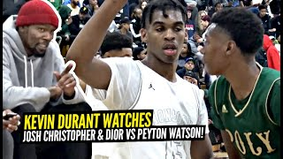 Kevin Durant Watches Josh Christopher & Dior BATTLE 5 Star Peyton Watson!! EPIC OT THRILLER!