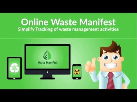 Online Waste Manifest, www.trackyourwaste.com