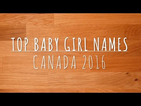 Top Baby Girl Names Canada 2016