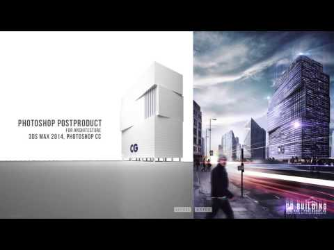 Photoshop post production - Architectural visualization [Show layer]