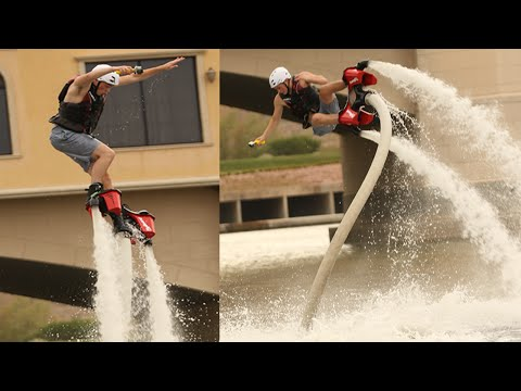 I WENT FLYBOARDING AND CRASHED BAD! - WATER JET PACK - CRASH - FAIL (FLYBOARD)