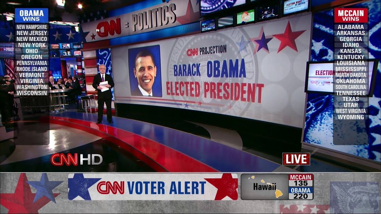 Election Night 2008 (CNN HD) p.1 - Obama Wins, McCain Concedes