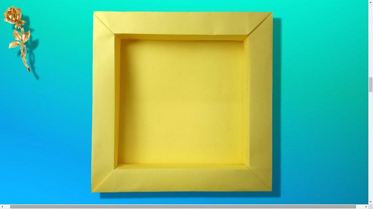 Origami Facile Cadre Photo 3d Youtube