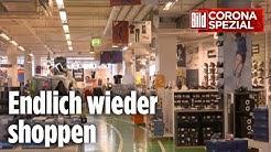 So kreativ werden Läden, um Montag öffnen zu dürfen | BILD Corona Spezial