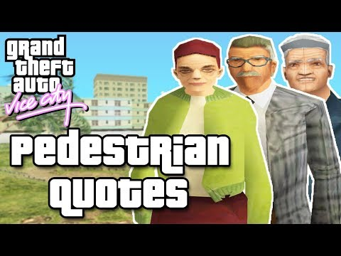 GTA Vice City Pedestrian Quotes : White Old Street Man & Woman And White Rich Old Man
