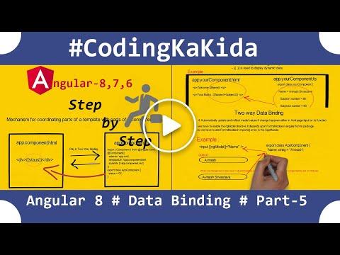 Angular 8/7 tutorial step by step | Data Binding in angular| angular tutorial | coding ka kida thumbnail