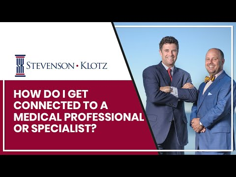 How Do I Get Connected To A Medical Professional Or Specialist Like An Orthopedist Or Neurosurgeon?