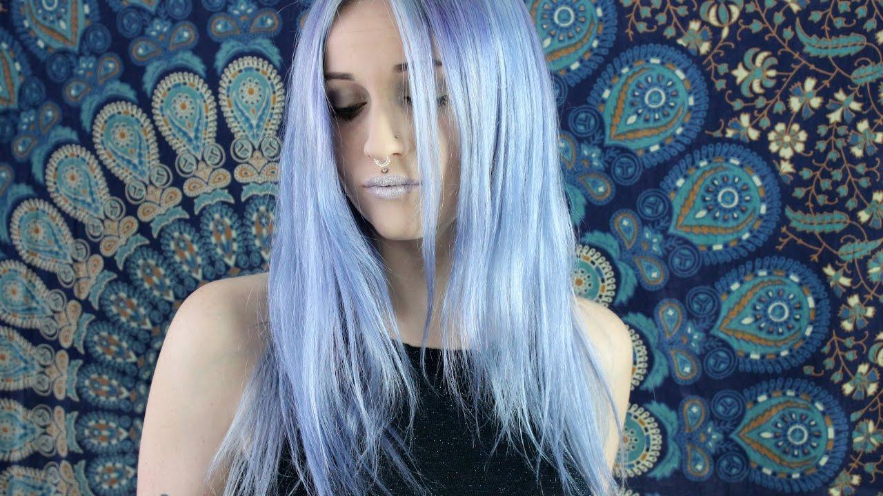 diy metallic blue hair color