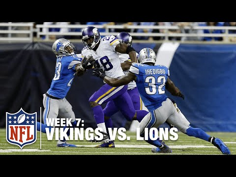 Adrian Peterson Breaks Loose for 75-Yard Gain! | Vikings vs. Lions | NFL