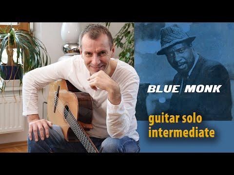 BLUE MONK [Tab & Score] Acoustic Fingerstyle Jazz Guitar Solo