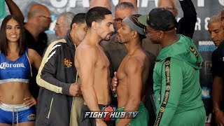 DANNY GARCIA & SHAWN PORTER FACE TO FACE IN INTENSE FACE OFF! - FULL WEIGH IN VIDEO