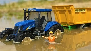 BRUDER TOYS tractors in the MUD! | Kids toys | Toys cartoon