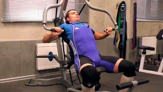 видео Жим сидя в тренажере на плечи, грудные и трицепсы: Смит и хаммер