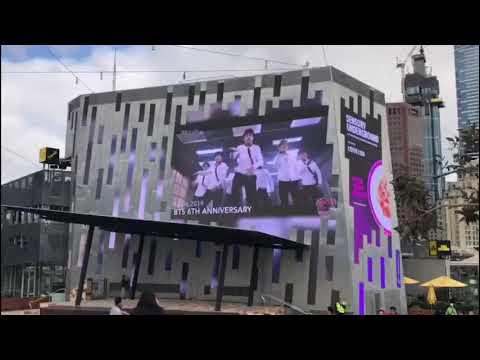 BTS 6th Anniversary Billboard Project @ Fed Square ( Melbourne, Australia)