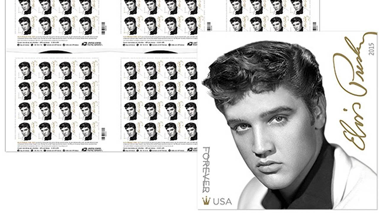 The king lives on elvis presley forever stamp goes on sale