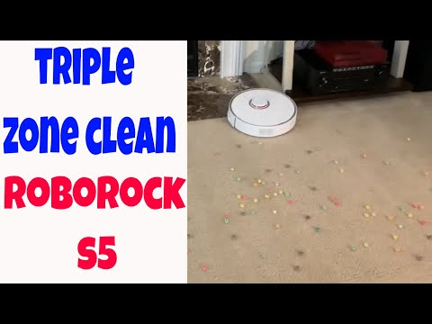 Roborock S5 S50 Xiaomi Triple Clean Zone Test Carpet With Cereal - How Well Will It Do? Robot Vacuum