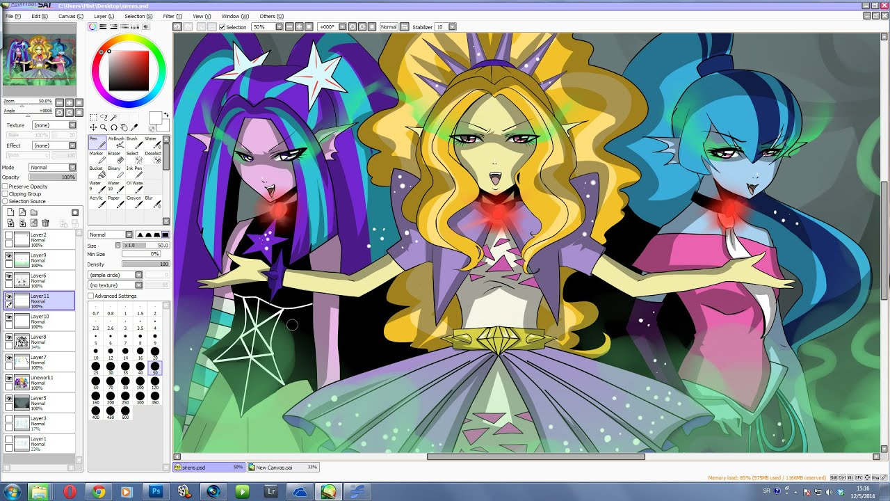 Drawing The Dazzlings From Equestria Girls Rainbow Rocks