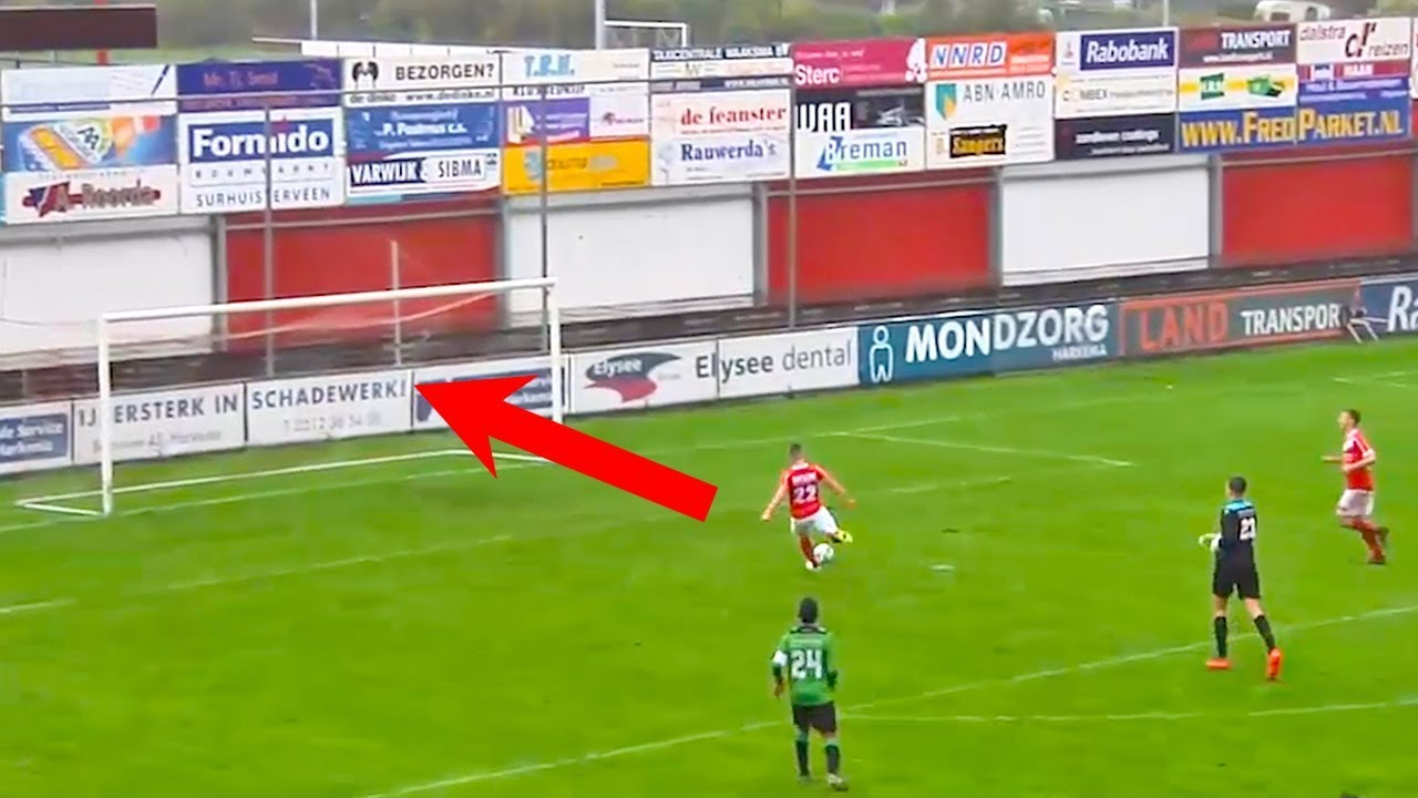 WORST MISS EVER? FOOTBALL PLAYER MISSES OPEN GOAL