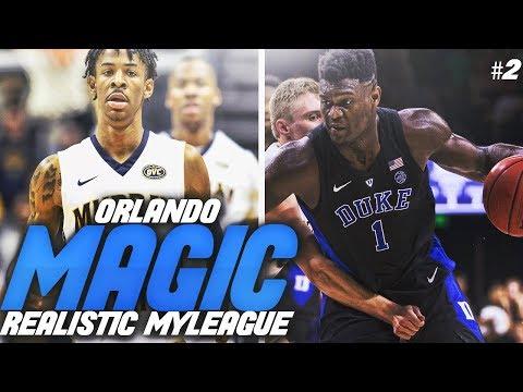 INSANE 2019 NBA DRAFT?! #1 OVERALL PICK?!! NBA 2K19 ORLANDO MAGIC REALISTIC MYLEAGUE #2