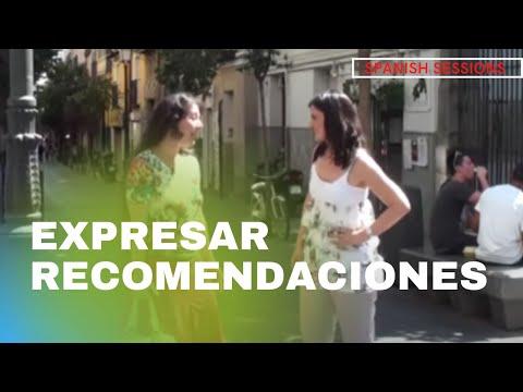 Spanish Lesson - Subjuntivo - Cómo expresar recomendaciones