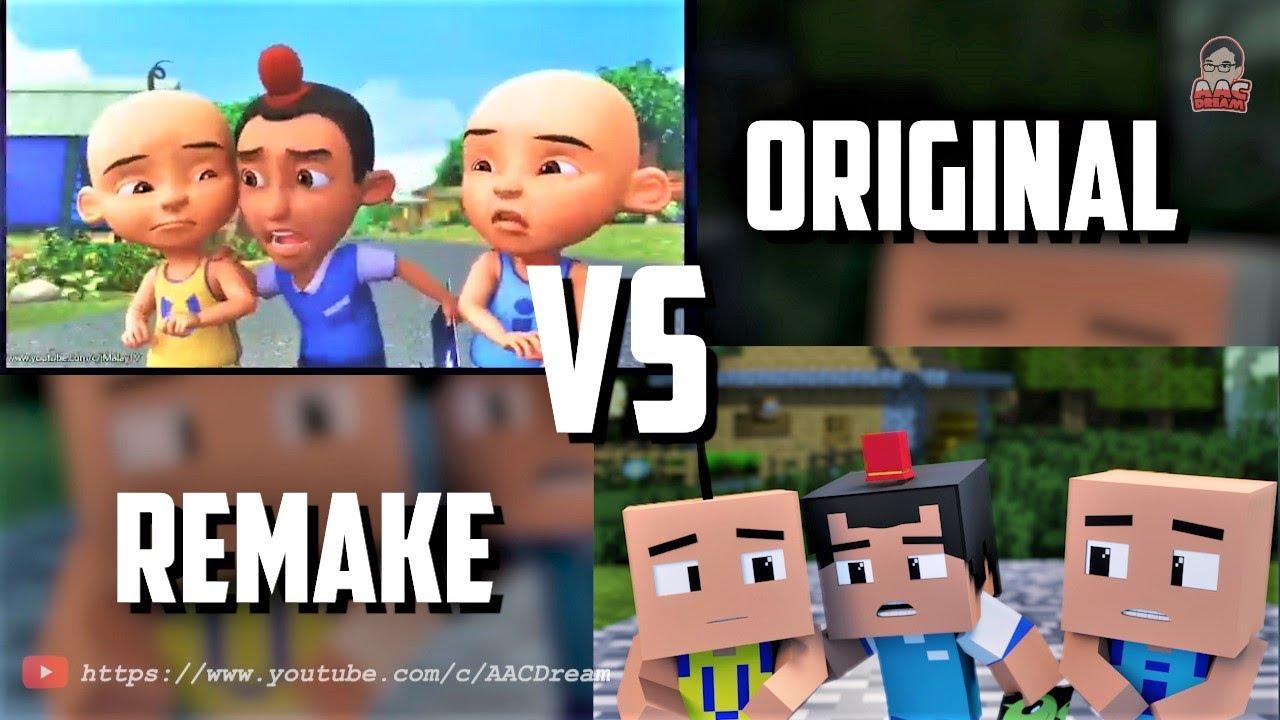 Upin & Ipin - Kawan Hilang 4 ( Original vs Minecraft )