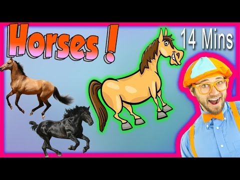 Thumbnail: Horses for Children - Learn Farm Animals for Kids. The Horse Song from Blippi