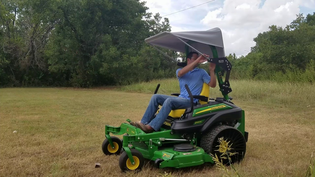 Perry Company Retractable Zero Turn Top - Canvas Switchback for John Deere : john deere sun canopy - memphite.com