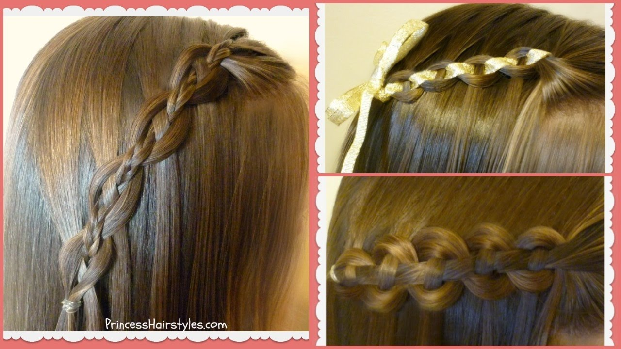 Waterfall chain braid tutorial princess hairstyles youtube ccuart Image collections